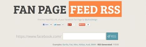 [Astuce] Pour obtenir le flux RSS d'une Fan Page Facebook | Social Media Curation par Mon Habitat Web | Scoop.it