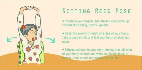 Infographic: Nine Yoga Positions For You To Destress At Work - DesignTAXI.com | Share Some Love Today | Scoop.it