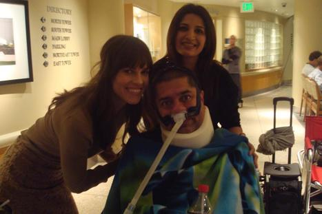 """Local California Resident's Adnan Gill & Saima Gill Spend Day with Hilary Swank on set of """"You're Not You"""" 