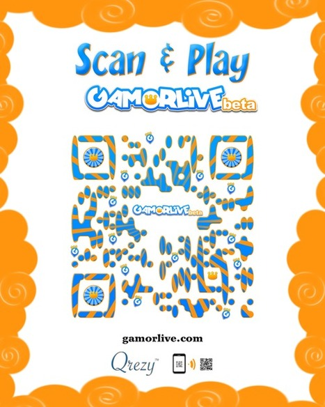 Qrezy design a very nice QRcode for Gamorlive | scan me to know me | Scoop.it