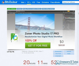 Offre promotionnelle : Zoner Photo Studio 17 Pro encore gratuit ! | Freewares | Scoop.it