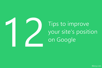 Improve your site's position on Google   Bbroy   Scoop.it