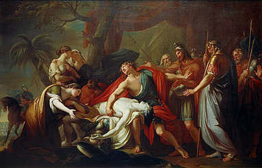 Achilles Lamenting the Death of Patroclus − Gavin Hamilton −National Galleries of Scotland | The Ancient Greek Hero | Scoop.it