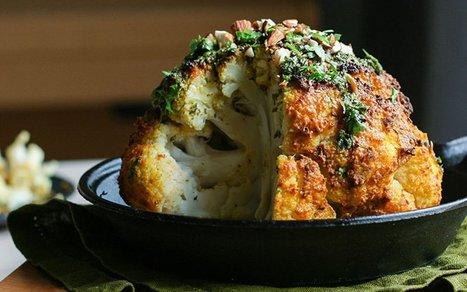 Tahini-Roasted Cauliflower With Lemony Herb Oil [Vegan] | Vegetarian and Vegan | Scoop.it