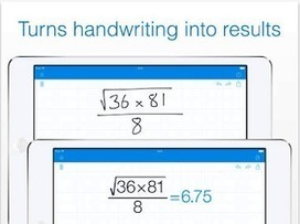 A Good Handwriting Calculator App (iPhone/iPad) for Students | Educational Technology and Mobile Learning | Tablets na educação | Scoop.it