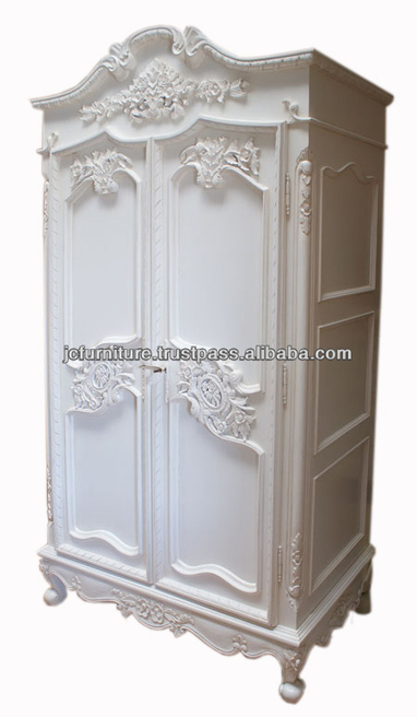 french white armoire furniture, View Antique French Furniture, FRENCH STYLE WARDROBE 2 DOORS Product Details from CV. JEPARA CRAFTER FURNITURE on Alibaba.com | Indonesian Teak Wood Furniture Indoor and Outdoor | Scoop.it