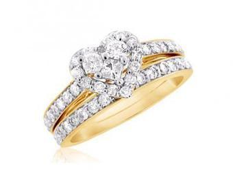 Heart-Shaped Diamond Bridal Set and Wedding Rings | Wedding Ring | Scoop.it