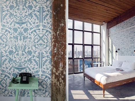 Wythe Hotel Inspiring Pictures of Blue Bedrooms | Design Happens | Bedroom Wallpaper | Scoop.it