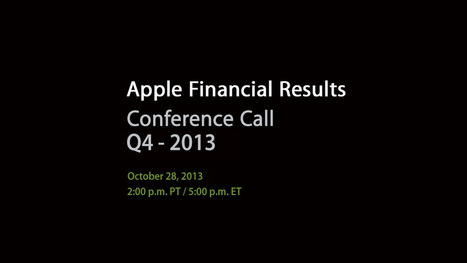 Apple's Fourth Quarter Results Conference Call is today. | Macintosh | Scoop.it