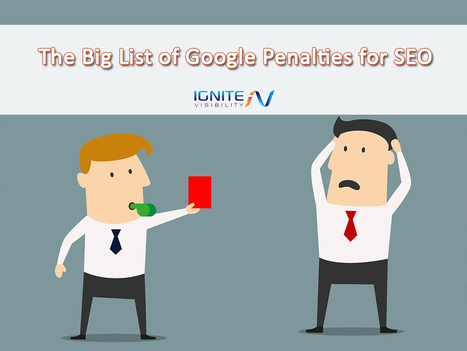 The Big List of Google Penalties for SEO | Content Strategy |Brand Development |Organic SEO | Scoop.it