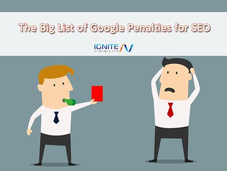 The Big List of Google Penalties for SEO | Social Media Marketing Strategies | Scoop.it