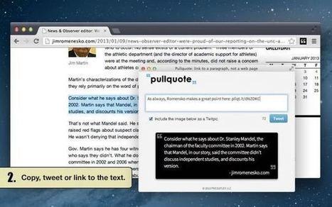 Pullquote. Faire des citations complètes sur Twitter | Les outils de la veille | Tout savoir sur Twitter | Scoop.it
