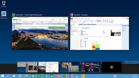 Windows 10 en images : retour du menu démarrer, priorité au bureau ! - PhonAndroid | Scoop.it Sysico | Scoop.it