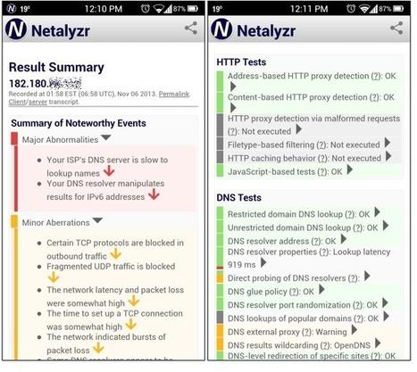Analysez votre réseau sous #Android avec Netalyzr | Time to Learn | Scoop.it