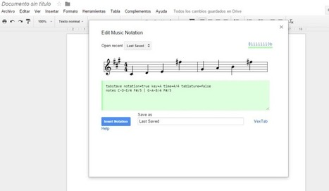 Cómo escribir música con Google Docs   Música y TIC   Scoop.it