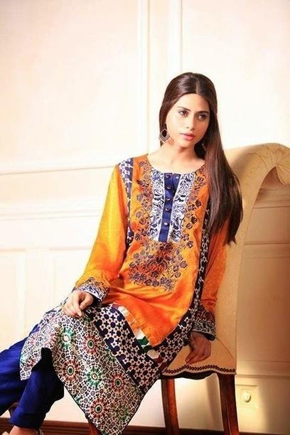 Exclusive Semi Formal Summer Wear Dresses For Girls By Gul Ahmed From 2014 | Women Fashion | Women fashion | Scoop.it