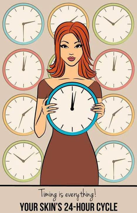 Your skin's 24-hour cycle (because for skincare, timing is EVERYTHING!) | Beauty | Scoop.it