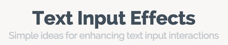 Text Input Effects | Web UX Links | Scoop.it