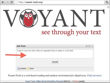 Getting Started | Voyant Tools Documentation | Data Visualization - BESegal | Scoop.it