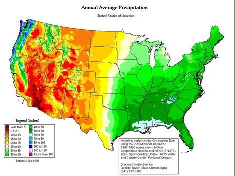 US Precipitation map | M@pping the World | Scoop.it