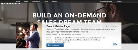 The LinkedIn Profile Header - How to Improve Your Look | Sales | Scoop.it
