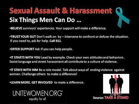 Six Things Men Can Do About Sexual Assault & Harassment | Coffee Party Feminists | Scoop.it