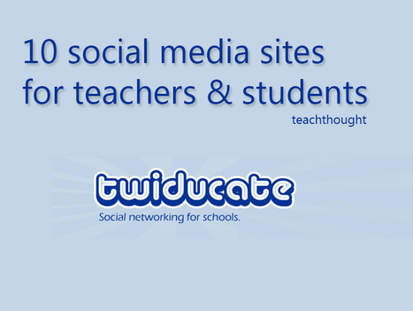 10 Social Media Sites For Education | Soup for thought | Scoop.it