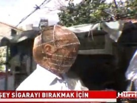Turkish Man Dons Wire Head Cage To Quit Smoking | Just Tell Us about | Scoop.it