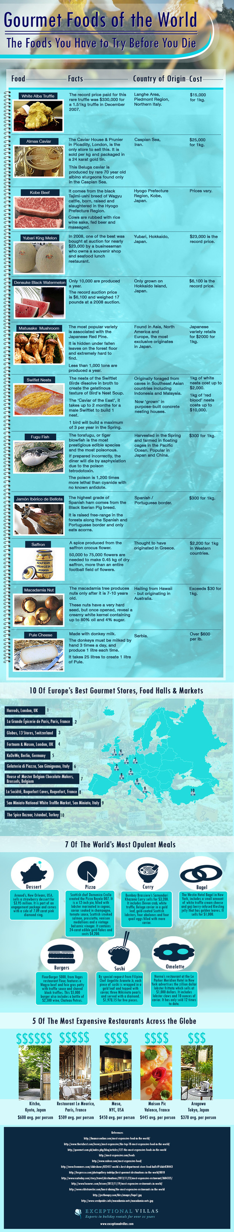 Gourmet Foods of the World - Infographic | hermesmyth | Scoop.it