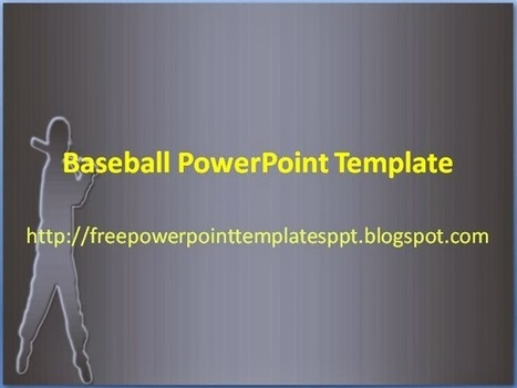 Baseball PowerPoint Template Background to Download for Presentation | Free PowerPoint Presentations Templates Background to Download | Scoop.it
