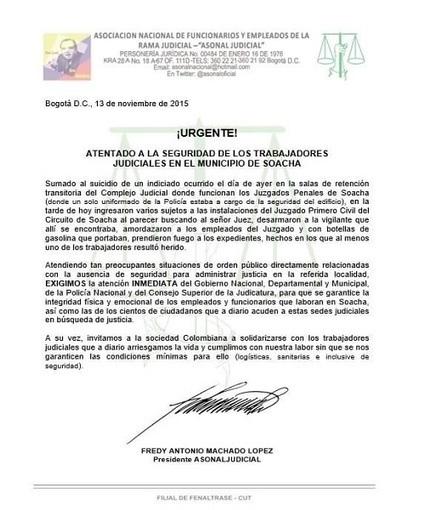 Explosión en juzgado de Soacha produjo pérdida de expedientes   Regiones y territorios de Colombia   Scoop.it