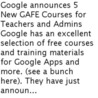 Google and educators