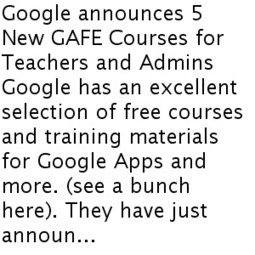 Google announces 5 New GAFE Courses for Teachers and Admins | Google and educators | Scoop.it