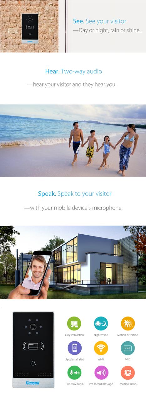 Wi-Fi Doorbell - Tiensun   Videointercom IP   Scoop.it
