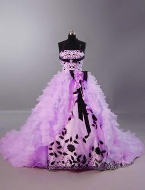Lavender Floral Quinceanera Dress | Modern Quinceanera Dress | Scoop.it