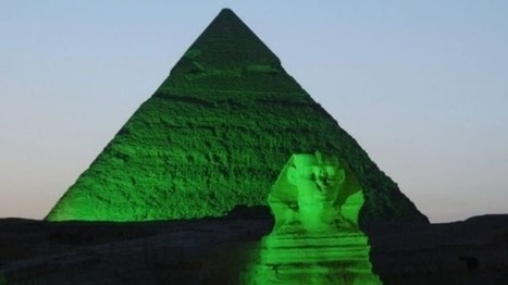 Giza glows green: Pyramids light up for Ireland's St. Patrick's Day fever | Égypt-actus | Scoop.it