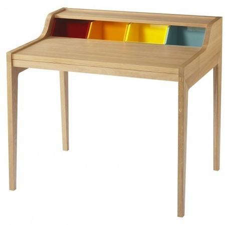 Bureau Hansen Family Remix by Sentou, un joli bureau en bois esprit années 50 | DecoDesign | Scoop.it