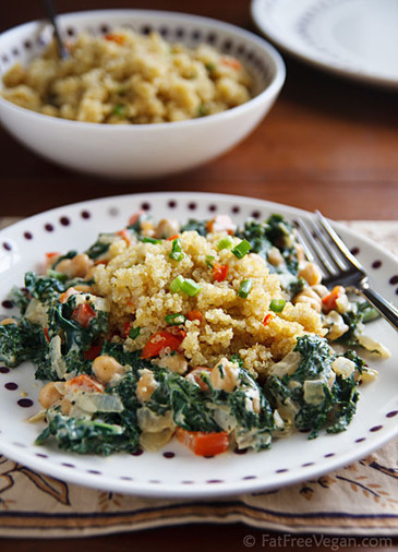 Cosmic Cashew Kale and Chickpeas with Confetti Quinoa | Healthy Whole Foods | Scoop.it