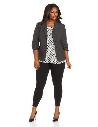 Anne Klein Women's 1 Button Jacket, Charcoal, 2 | Big Deals Fashion Today | Scoop.it
