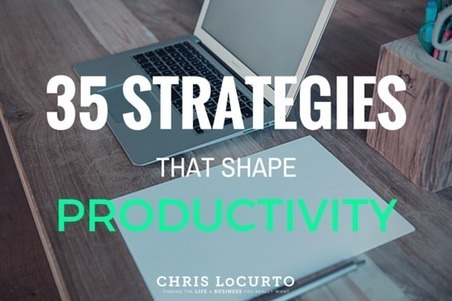 35 Strategies That Shape Productivity | Chris LoCurto | productivity tips 247 | Scoop.it