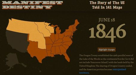 Manifest Destiny in 141 Maps | Geography Education | Scoop.it