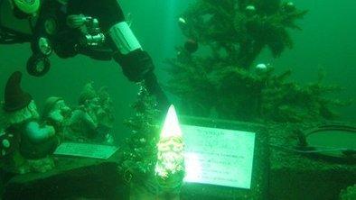 Underwater garden gnomes hidden in Lake District - BBC News   ScubaObsessed   Scoop.it