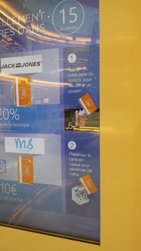 France : Première expérience d'écran shopping interactif NFC au Centre Commercial La Toison d'Or - Ooh-tv | La Newsletter Connect | Scoop.it
