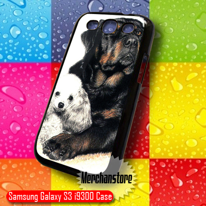Cute Poodle and Rottweiler Samsung Galaxy S3 Case | Merchanstore - Accessories on ArtFire | Samsung Galaxy S3 Case | Scoop.it