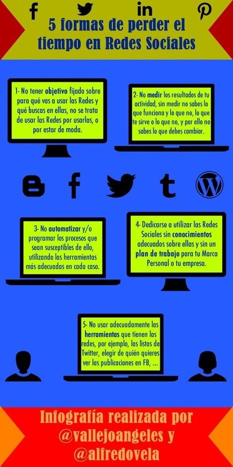 5 maneras de perder el tiempo en Redes Sociales #infografia #infographic #socialmedia | Contenidos educativos digitales | Scoop.it