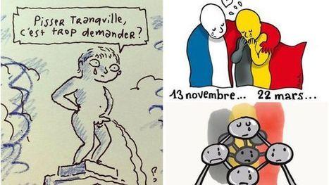 Attentats de Bruxelles: entre Manneken-Pis et Tintin, les dessinateurs solidaires   Veille pour rire ou sourire   Scoop.it