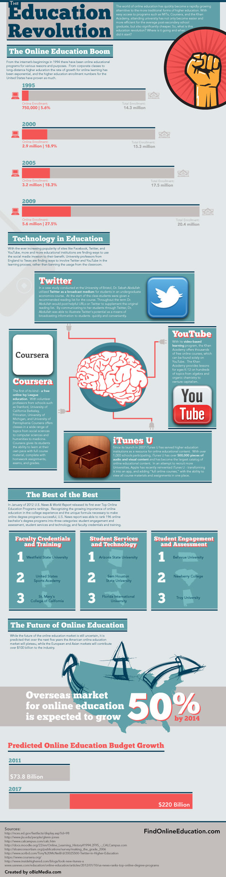 Online Higher Education Revolution (Infographic) - Business 2 Community | Distance and Virtual Learning | Scoop.it