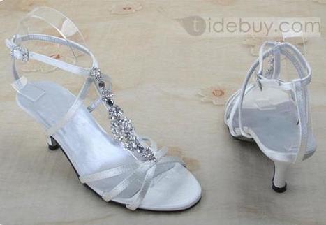 PU Upper Stiletto Heel Peep-Toe Sandals With Rhinestone Wedding Shoes | sweet heart | Scoop.it