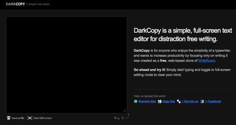 DarkCopy - Write without distractions | IKT och iPad i undervisningen | Scoop.it