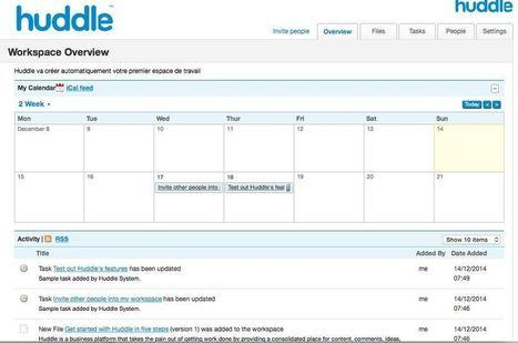 Huddle. Espace de travail collaboratif pour tou... | CDI & TICE | Scoop.it